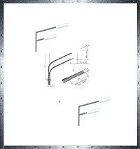 Кронштейны освещения углового типа КУ1-2