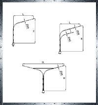 Кронштейны с опорным фланцем 76, 89, 102, 133, 180, 230мм