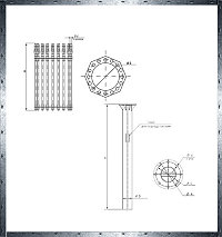 Закладная деталь фундамента из трубчатого металлопроката