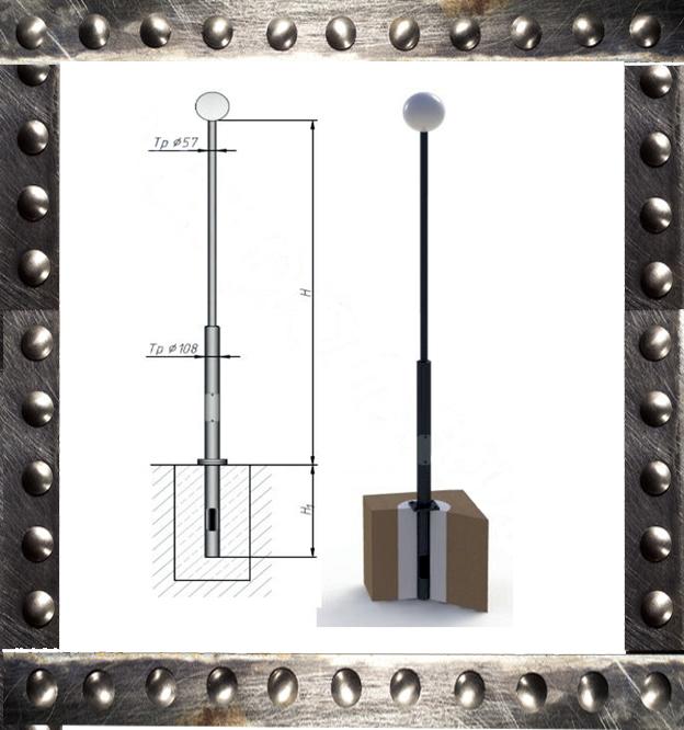 опоры трубчатые металлические