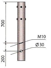 Исполнение 01 - воздушный подвод кабеля.