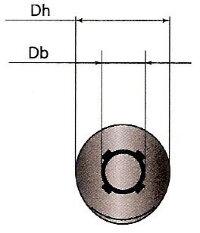 Круглая коническая опора в грунт КК-6Г-75. Верхняя часть опоры МК