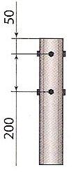 Круглая коническая опора. Верхняя часть опоры